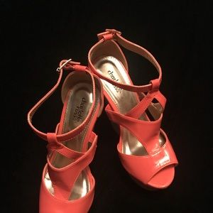Coral Tall Wedge Sandals